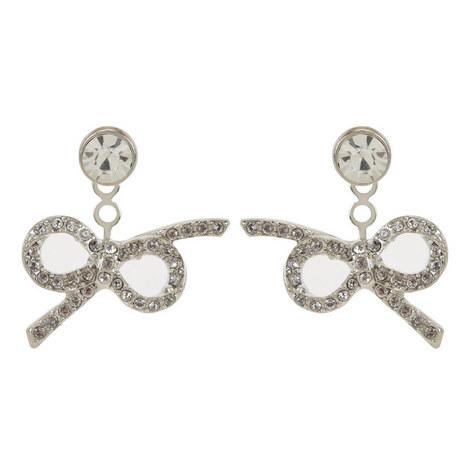 Crystal Bow Stud Earrings , ${color}