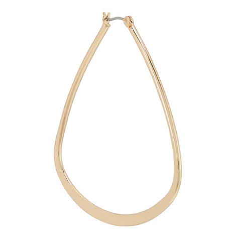 Triangular Hoop Earrings, ${color}