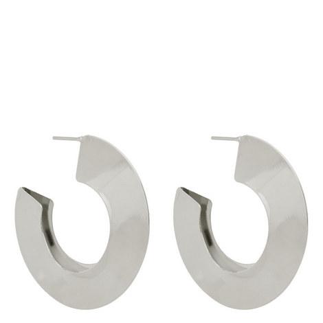 Wide Hoop Earrings, ${color}