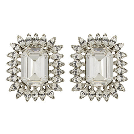 Crystal Clip-On Earrings, ${color}