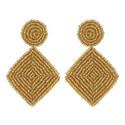 Bead Drop Earrings, ${color}