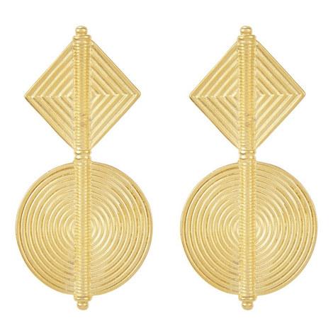 Geometric Drop Earrings, ${color}