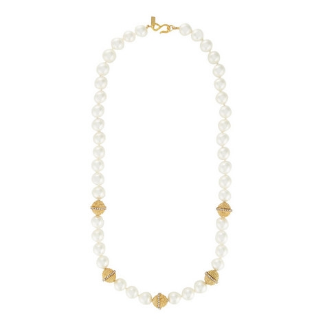 Rondelle Pearl Necklace, ${color}