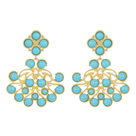 Beaded Drop Clip-On Earrings, ${color}