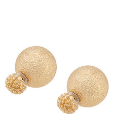 Textured Double Ball Earrings