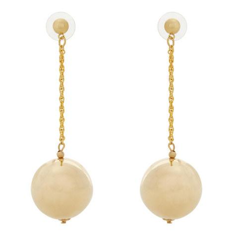 Ball Drop Earrings, ${color}