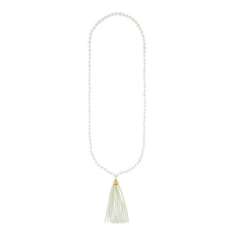 Pearl Tassel Necklace, ${color}