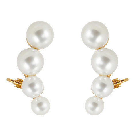 Pearl Crawler Earrings, ${color}