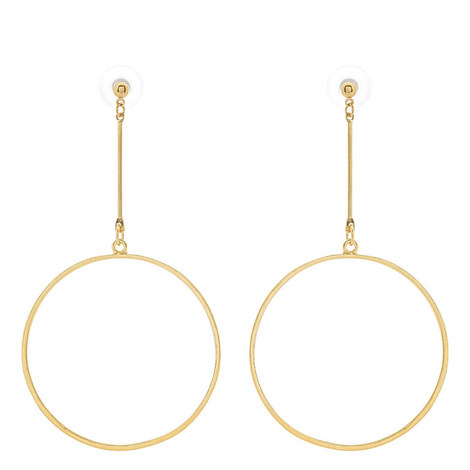 Circle Drop Earrings, ${color}
