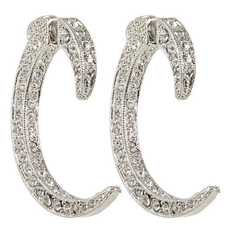 C-Shape Post Earrings, ${color}