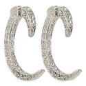 C-Shape Post Earrings, ${color}