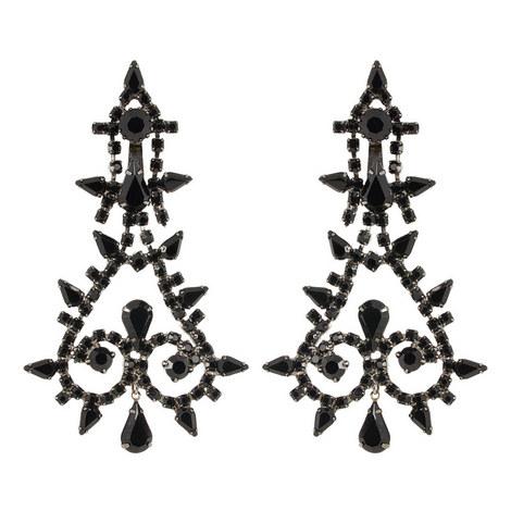 Crystal Drop Earrings, ${color}