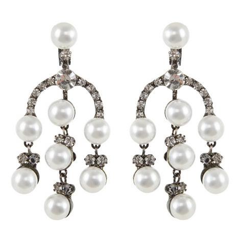 Three-Row Drop Earrings, ${color}