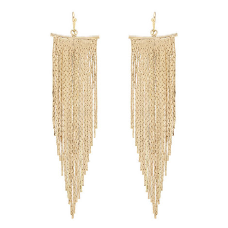 Fringe Chain Earrings , ${color}