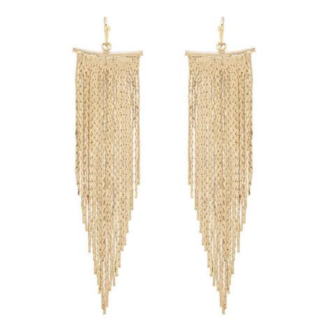 Fringe Chain Earrings, ${color}