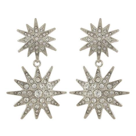 Crystal Star Drop Earrings, ${color}