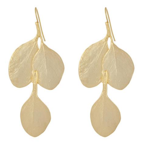 Leaf Hook Earrings, ${color}