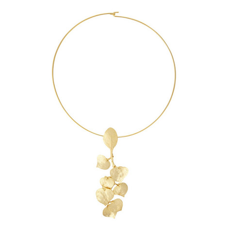 Leaf Choker Necklace, ${color}