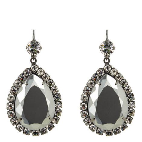 Crystal Hematite Drop Earrings, ${color}
