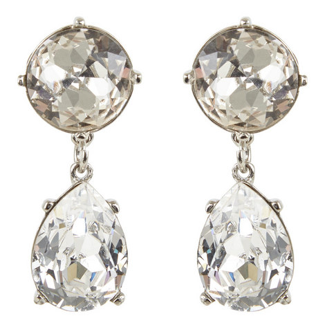 Crystal Teardrop Earrings, ${color}