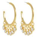 Drop Hoop Earrings, ${color}