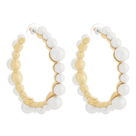 Large Embellished Hoop Earrings, ${color}