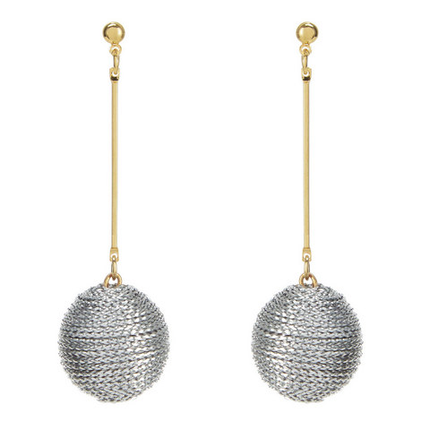Corded Ball Drop Earrings, ${color}
