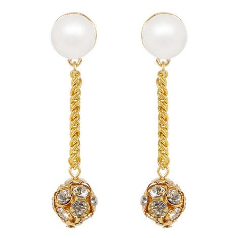 Crystal Ball Drop Earrings , ${color}
