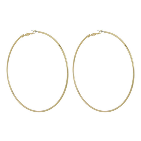 Large Hoop Earrings, ${color}