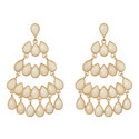 Stone Embellished Chandelier Earrings, ${color}