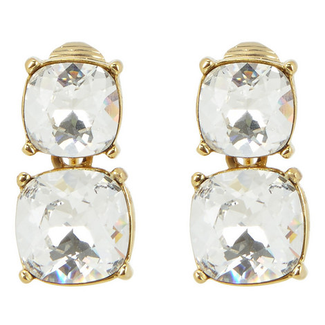 Double Crystal Earrings, ${color}
