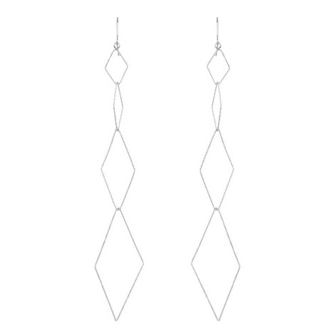 Diamond Shape Drop Earrings, ${color}