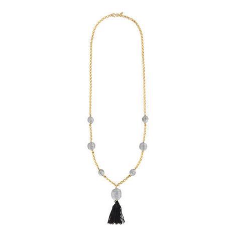 Tassel Bauble Necklace, ${color}