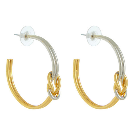 Knotted Hoop Earrings, ${color}