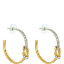 Knotted Hoop Earrings