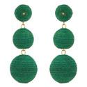 Corded Bauble Drop Earrings, ${color}