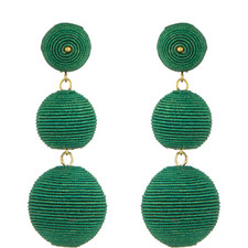 Corded Bauble Drop Earrings