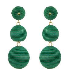 Corded Bauble Drop Earrings