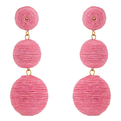 Corded Bauble Drop Earrings, ${color}