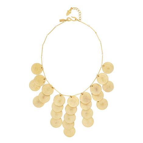 Satin Coin Drop Necklace, ${color}