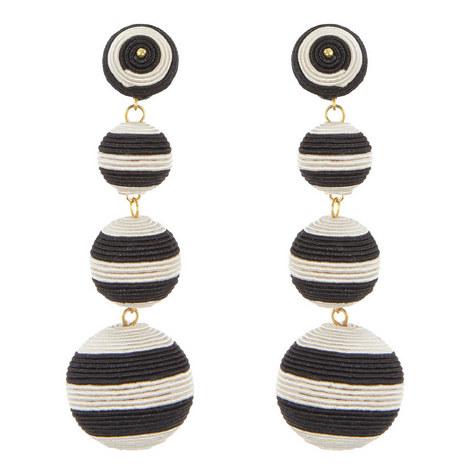 Stripe Bauble Drop Earrings, ${color}