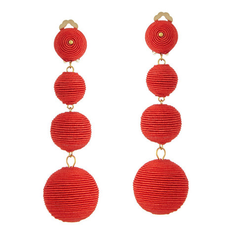 Corded Bauble Clip-On Earrings, ${color}