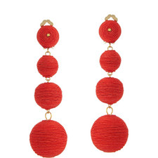 Corded Bauble Clip-On Earrings