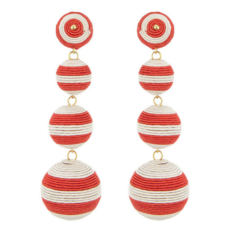 Stripe Bauble Drop Earrings, ${color}