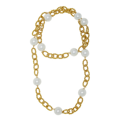 Pearl Chain Necklace, ${color}