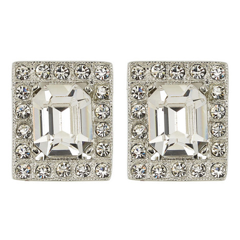Crystal Square Earrings, ${color}