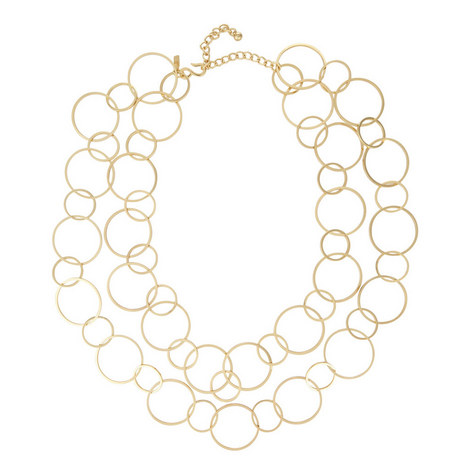 Circular Linked Loop Necklace, ${color}