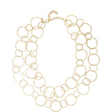 Circular Linked Loop Necklace