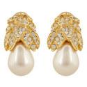 Drop Clip Pearl Earrings, ${color}