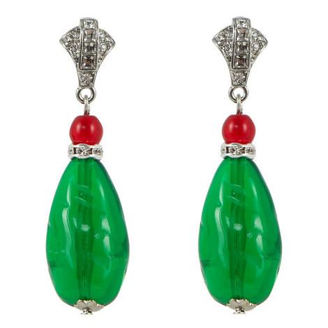 Drop Stone Earrings, ${color}